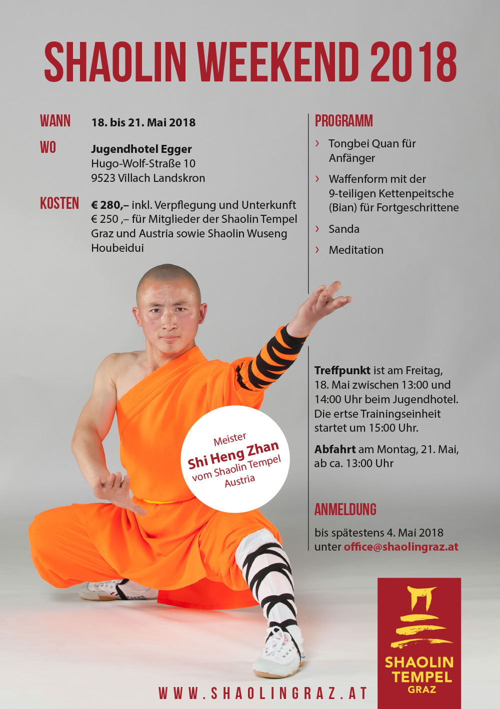 Shaolin Weekend 2018